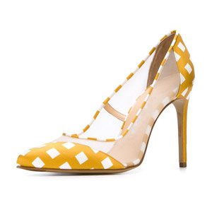 Handcrafted Transparent Point Toe Fashion High Heel Pumps Pvc Women Shoes pp3168