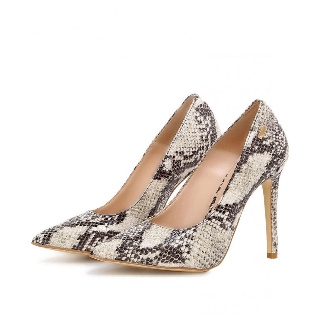 Sexy design snakeskin 8cm high heel women dress pump shoes YB2070