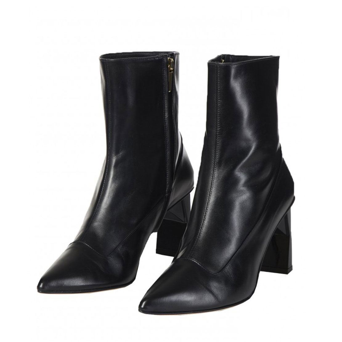 Classical genuine leather women ankle boots shoes YB3042