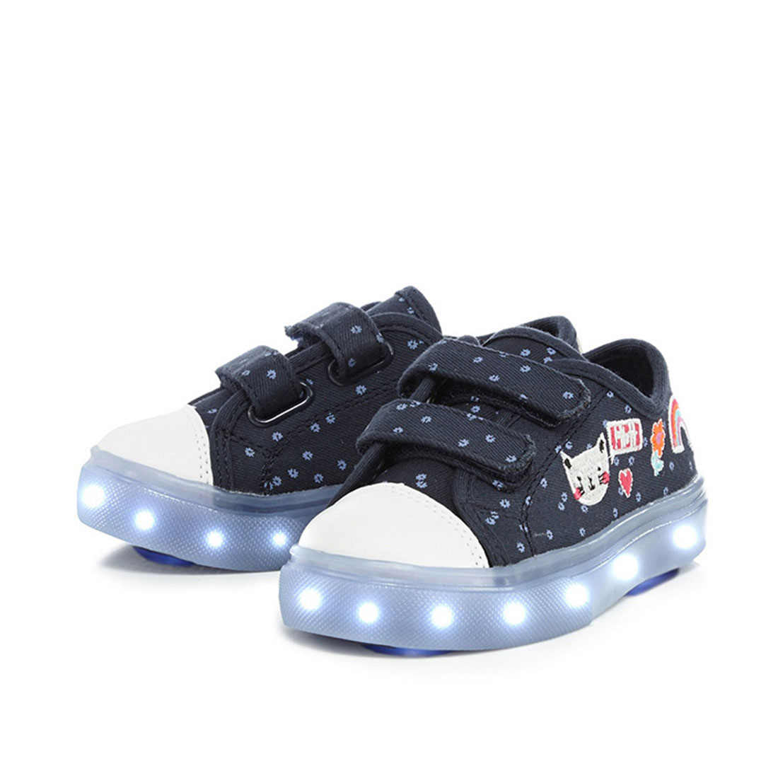 Fabric upper dark blue flat fashion design light shoes kid