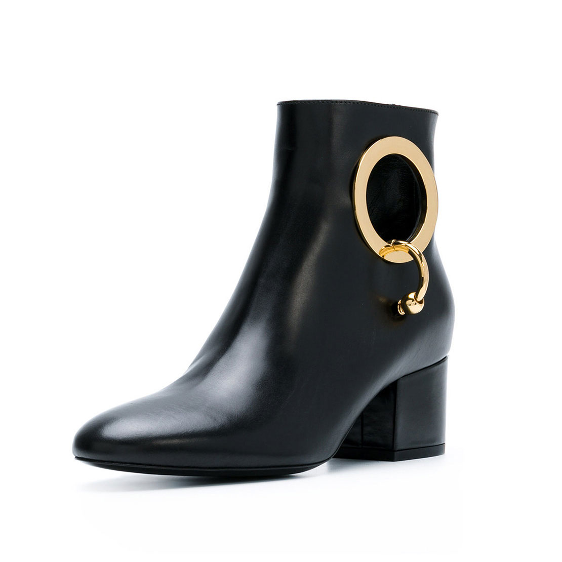 China factory leather black classical autumn winter office women boots YB4028