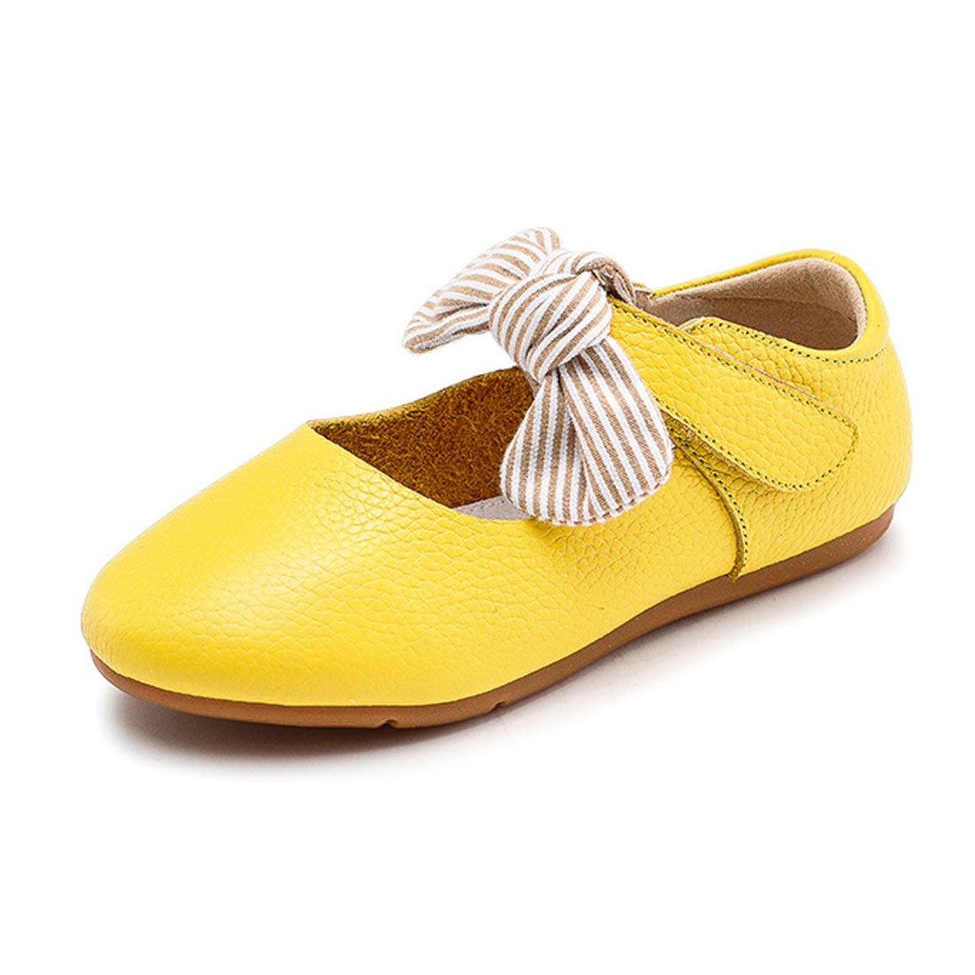 Leather comfortable lovely with bow  flat dress shoes girl kids shoesGCS10