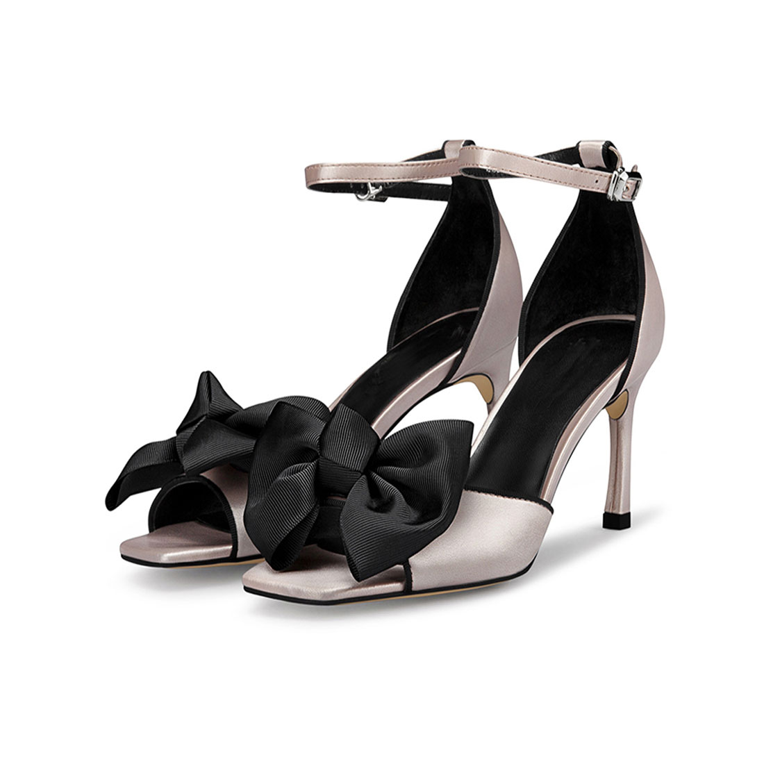 Wholesale Satin upper with butterfly decoration high heel women sandal  YB2022