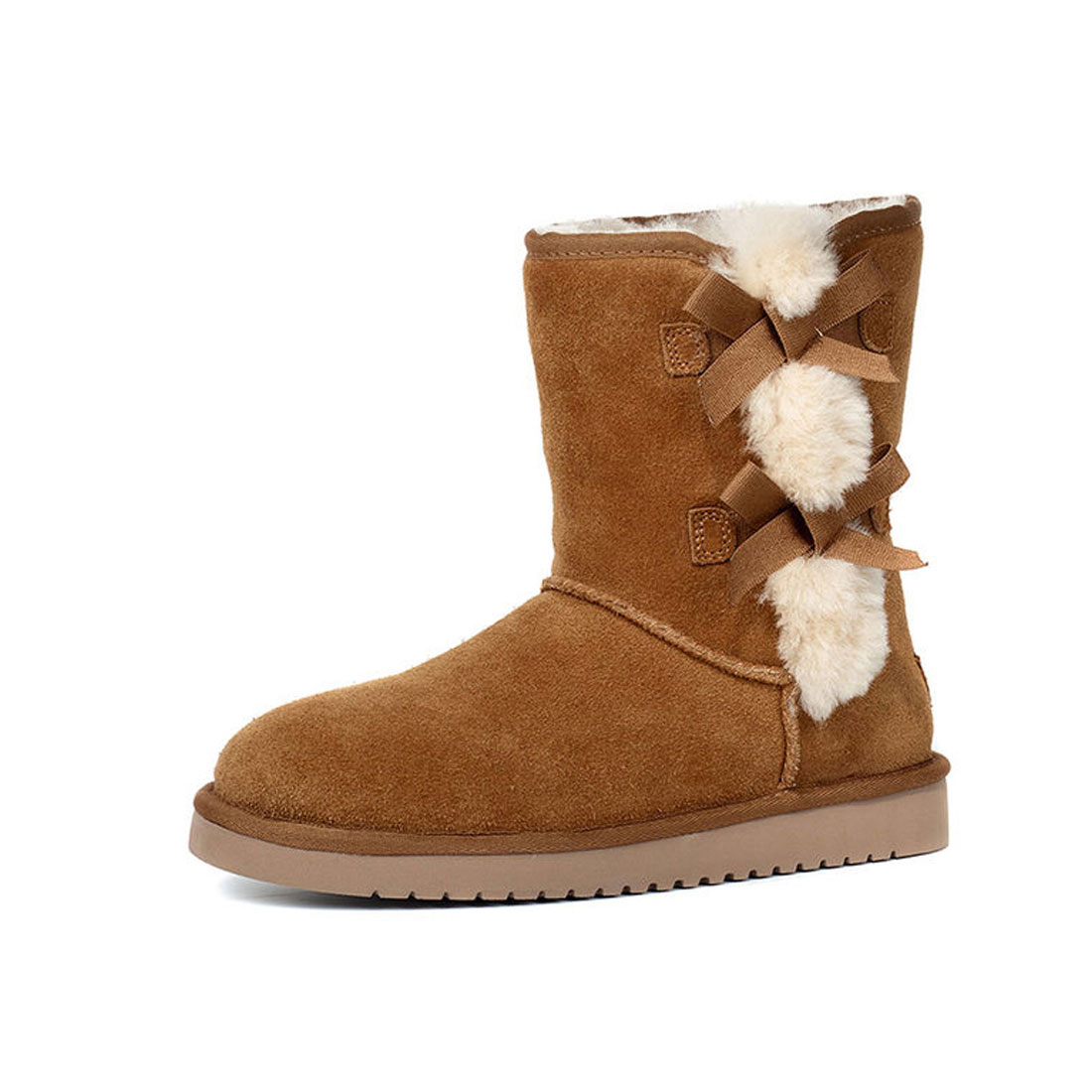 b8f20b03434 new style women ankle snow boots warm ladies winter shoes platform shoes  HS8195. Beige Enchanting Morgex shearling boots – Loro Piana ...