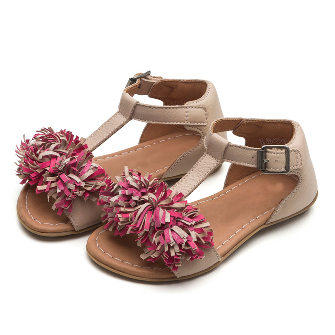 21168c7915687 China Wholesale Leather Tassel Flower Kids Baby Girl Summer Sandal Shoes  KD0114